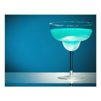Icy Blue Margarita Photographic Print