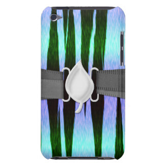 icy blue tiger stripes animal print pattern iPod touch case