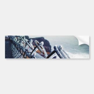 Icy Fence Bumper Sticker