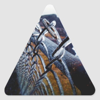 Icy Fence Triangle Sticker