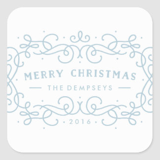 Icy Frame Holiday Sticker - Frost