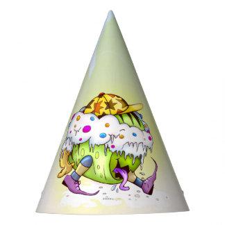 ICY JUICY ALIEN MONSTER CARTOON Party Hat