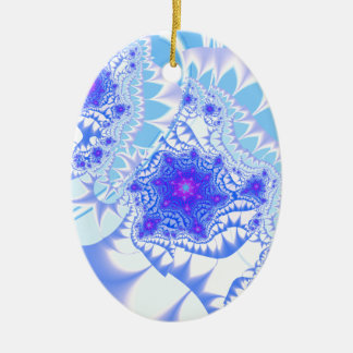 Icy Lace Ceramic Oval Decoration