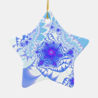 Icy Lace Ceramic Star Decoration