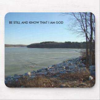 Icy Lake and Rocky Shore, Be Still And Know That I Mouse Pad