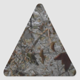 Icy Leaves Triangle Sticker