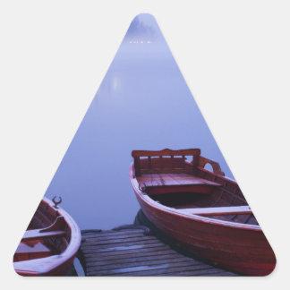 Icy mist triangle sticker