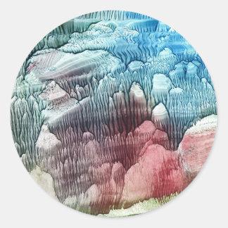 Icy Mountain Round Sticker