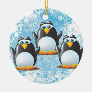Icy Penguins Christmas Ornament