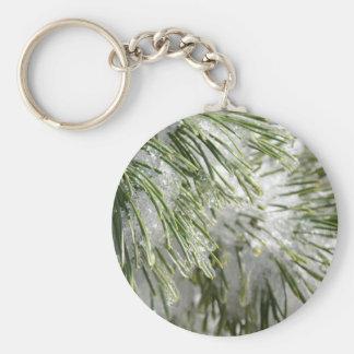 Icy Pine Needles Key Chain