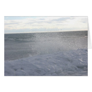Icy Shore Greeting Card