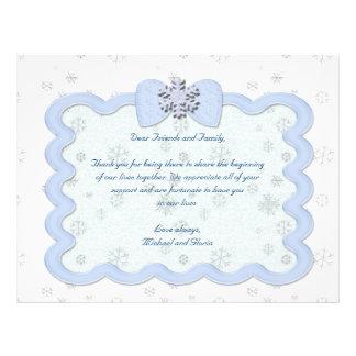 Icy Snowflake Celebration Flyer