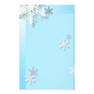 Icy Snowflake Stationary Stationery