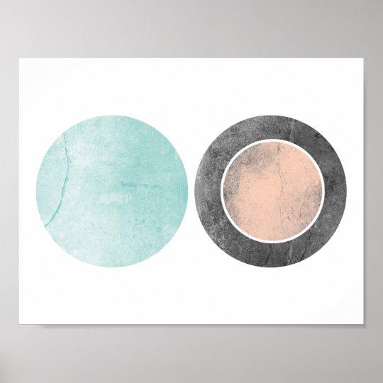 Icy Sunrise Geometric Print