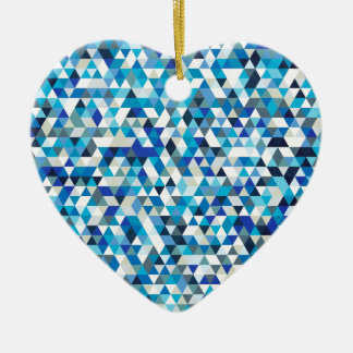 icy triangles ceramic heart decoration