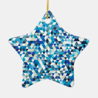 icy triangles christmas ornament