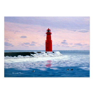 Icy Waters Lighthouse Art Card Large Business Cards (Pack Of 100)