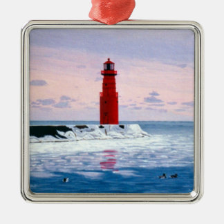 Icy Waters Lighthouse Ornament