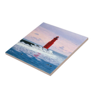 Icy Waters Lighthouse Tile
