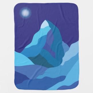 Icy winter Matterhorn mountain Buggy Blankets