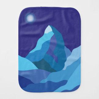 Icy winter Matterhorn mountain Burp Cloth