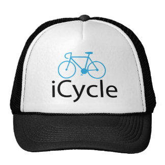 iCycle blue bike Cap