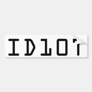 ID10T bumper sticker