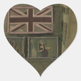 id admin pouch british army heart sticker