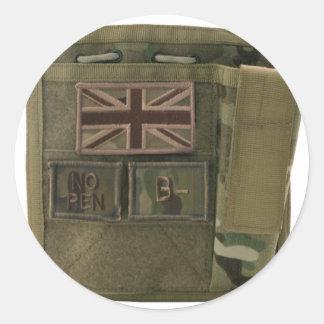 id admin pouch british army round sticker