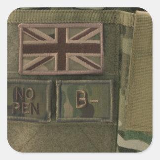 id admin pouch british army square sticker