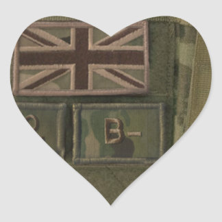 id admin pouch british army heart stickers