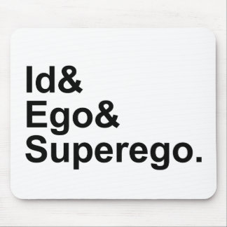 Id Ego Superego | Three Parts of the Psyche Mouse Mat
