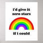 """""""I'd give it zero stars"""" poster Print"""