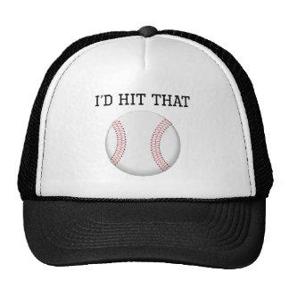 I'd Hit That Baseball Mesh Hat