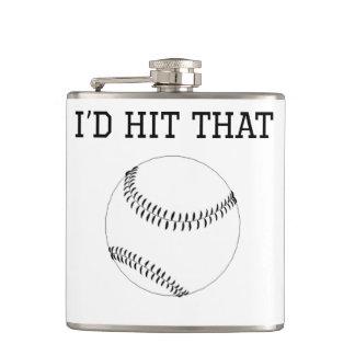 I'd Hit That Baseball Hip Flask