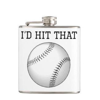 I'd Hit That Baseball Flask