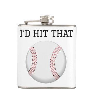 I'd Hit That Baseball Flasks