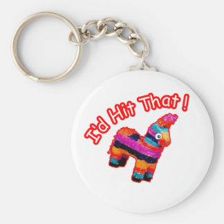 ID HIT THAT funny Pinata Basic Round Button Key Ring