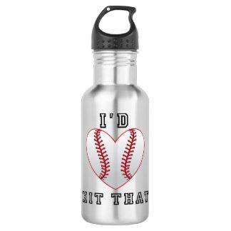 Id hit that softball 532 ml water bottle