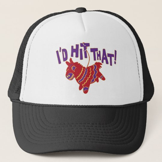 I'd Hit That Softball team gear Trucker Hat