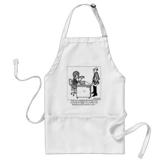 ID # Identifies You As A Person Adult Apron