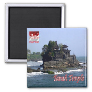ID - Indonesia - Bali - Tanah Temple Square Magnet