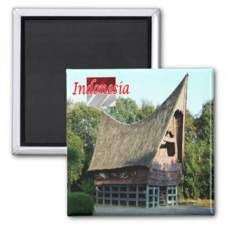 ID - Indonesia - Batak Toba House Square Magnet