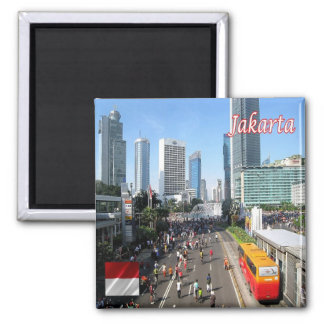 ID - Indonesia - Jakarta Car Free Day Square Magnet