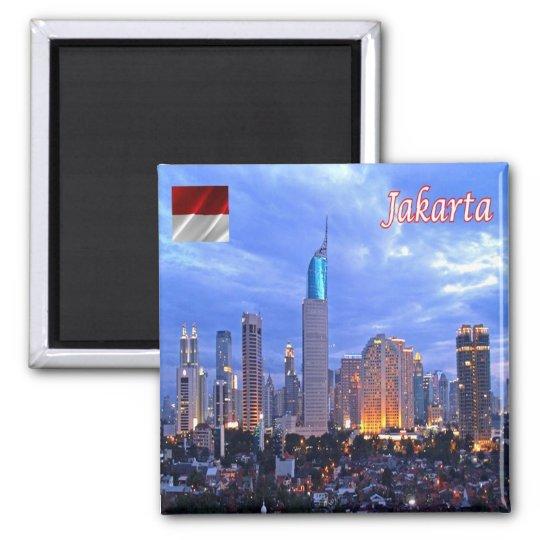 ID - Indonesia - Jakarta Skyline Magnet