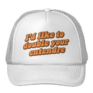 I'd Like to Double Your Entendre Trucker Hat