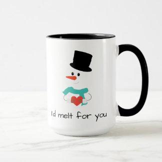 I'd melt for you holiday winter snowman mug