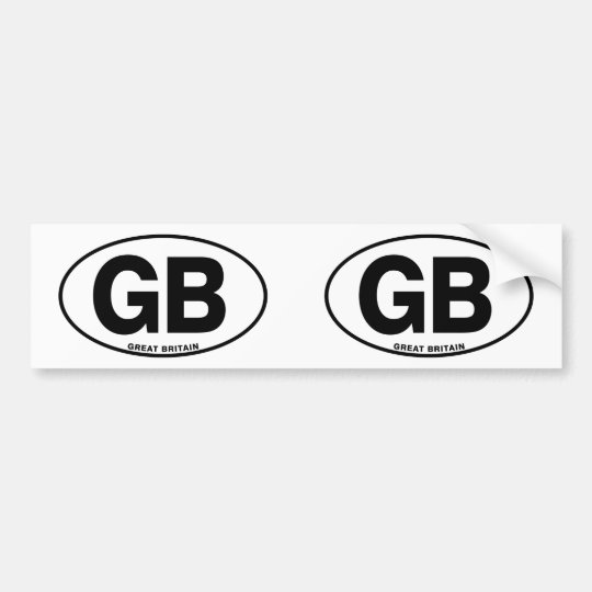 ID Oval GB Great Britain Bumper Sticker