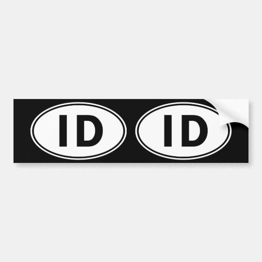 ID Oval Identity Sign Bumper Sticker