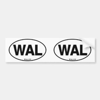 ID Oval WAL Wales Bumper Sticker
